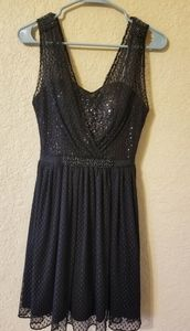 GUESS semi formal black dress with sequins